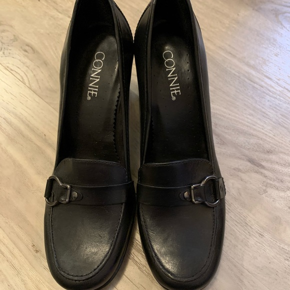 Connie Shoes - Black heel Shoes by Connie